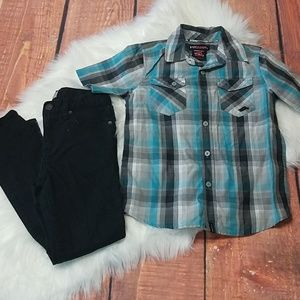 Back to school bundle skinny jeans and top sz 7
